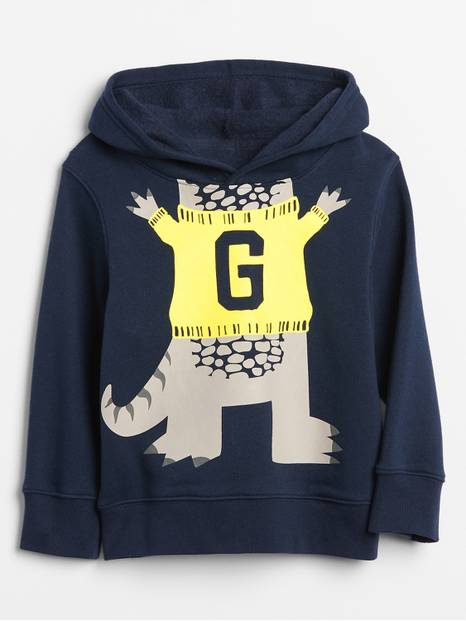 Toddler Embellished Graphic Hoodie Sweatshirt