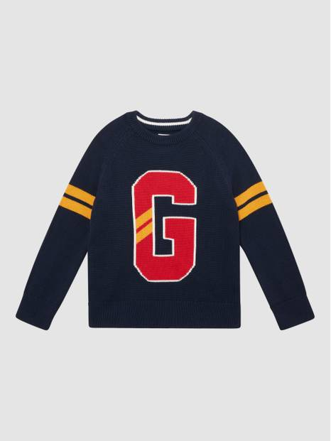 Kids Gap Logo Intarsia Sweater