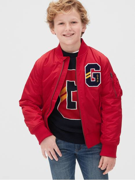 Kids Gap Logo Bomber Jacket
