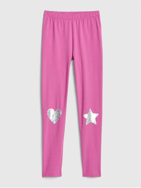 Kids Flippy Sequin Everyday Stretch Leggings