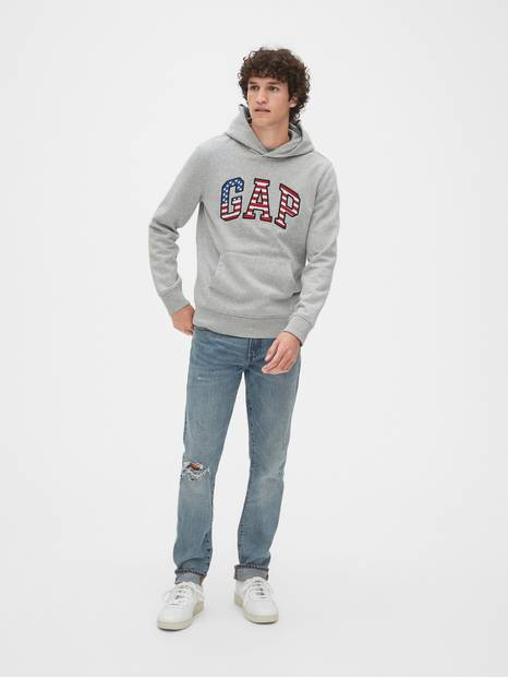 Gap Logo Flag Arch Pullover Hoodie