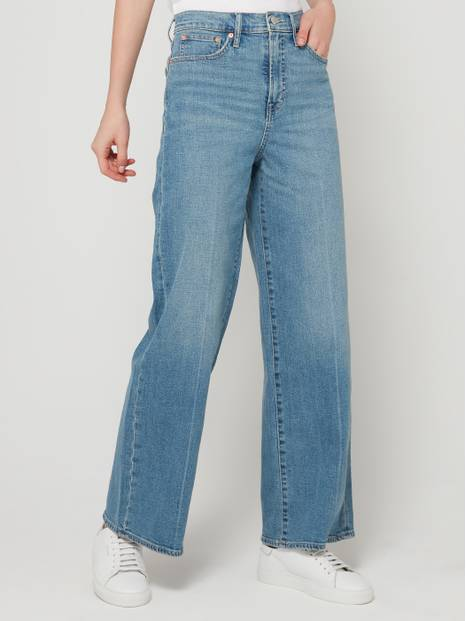 High-Rise Wide Leg Denim Pants