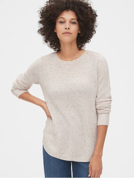 True Soft Textured Crewneck Sweater