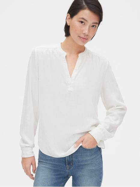 Split-Neck Popover Top