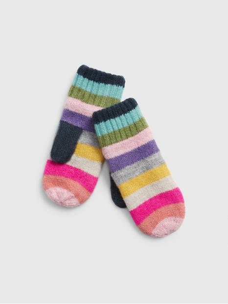 Kids Crazy Stripe Mittens