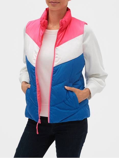 Colorblock Lightweight Puffer Vest
