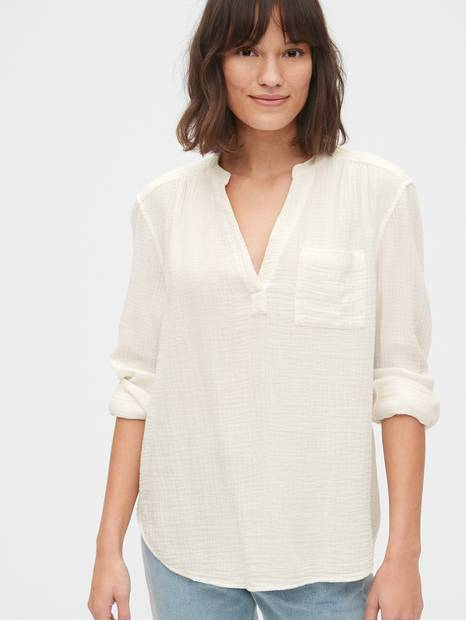 Gauzy Popover Shirt in Cotton