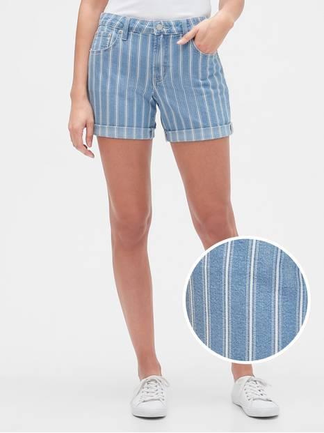 "5"" Denim Stripe Shorts"