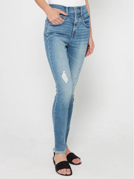 Sky High Rise True Skinny Ankle Jeans