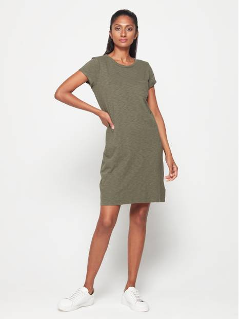 Short Sleeve Pocket Mini Dress
