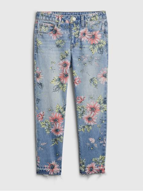 Kids Floral Girlfriend Jeans
