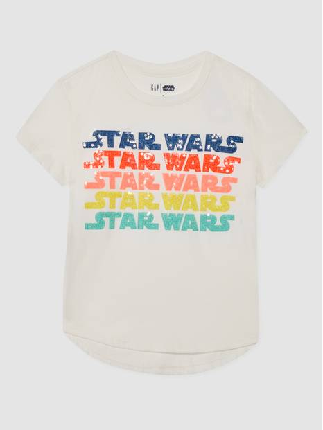 Kids Star Wars Flippy Sequin T-Shirt