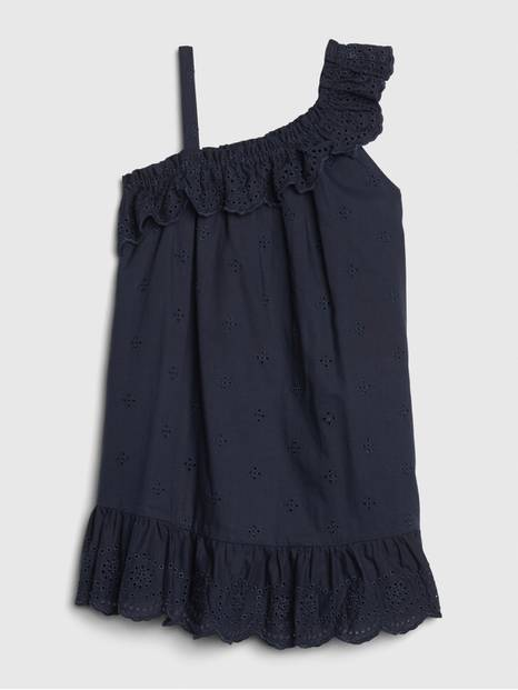 Toddler Asymmetrical Ruffle Dress
