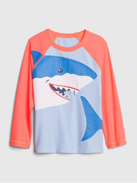 Toddler 3D Shark Rash Guard