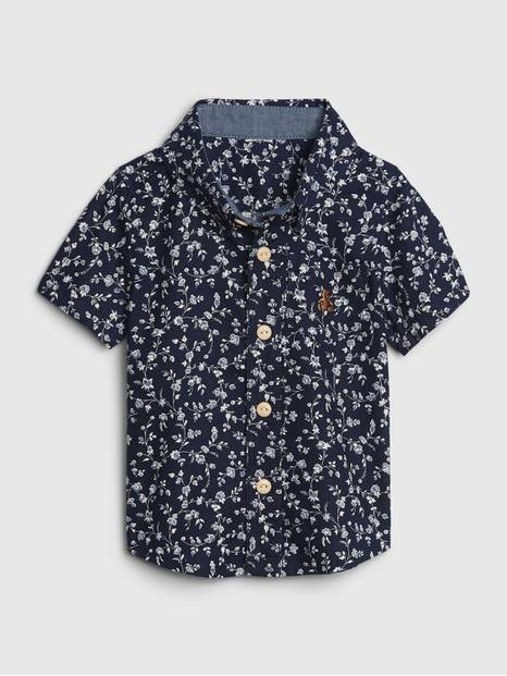 Baby Floral Button Down Shirt