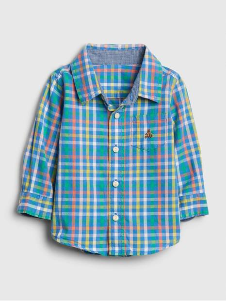 Baby Brannan Bear Plaid Shirt