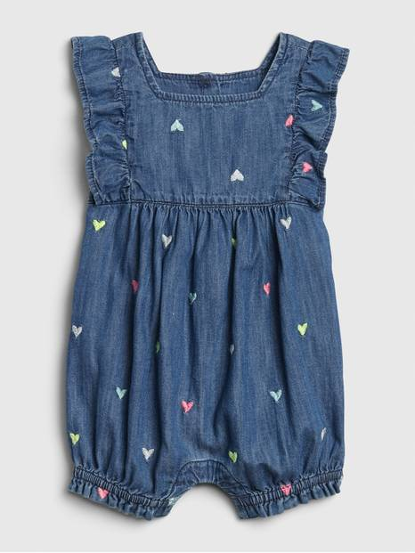 Baby Gap Ruffle Denim One-Piece
