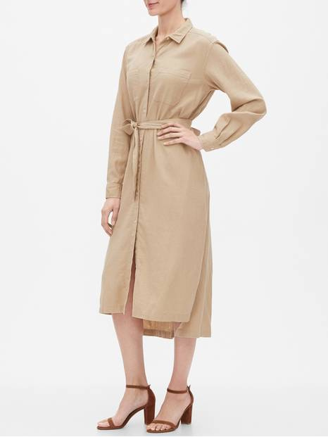 Long Sleeve Maxi Shirtdress