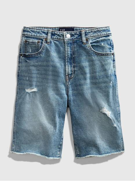 Teen Distressed Bermuda Shorts