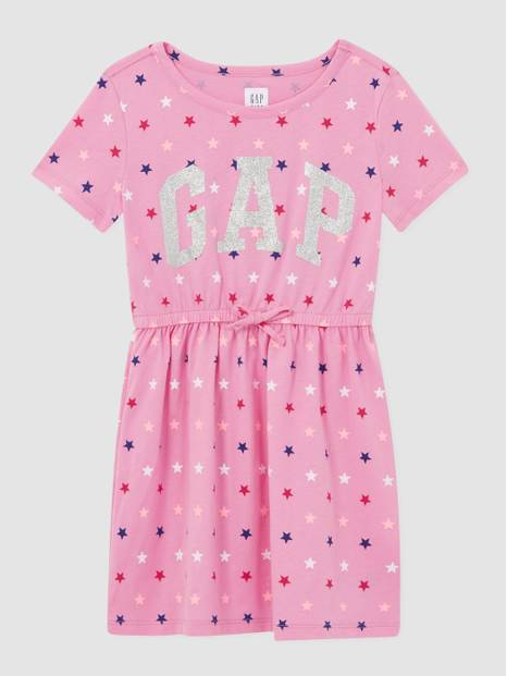 Kids Gap Logo Printed Tie-Waist Dress