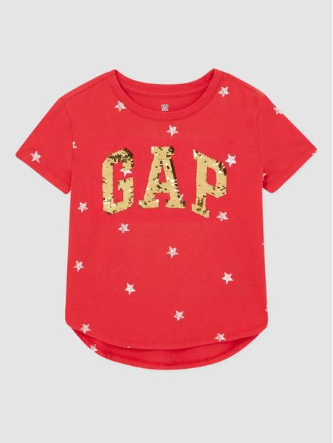 Kids Flippy Logo Sequin T-Shirt
