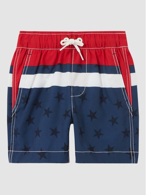 Kids Printed Swim Trunks