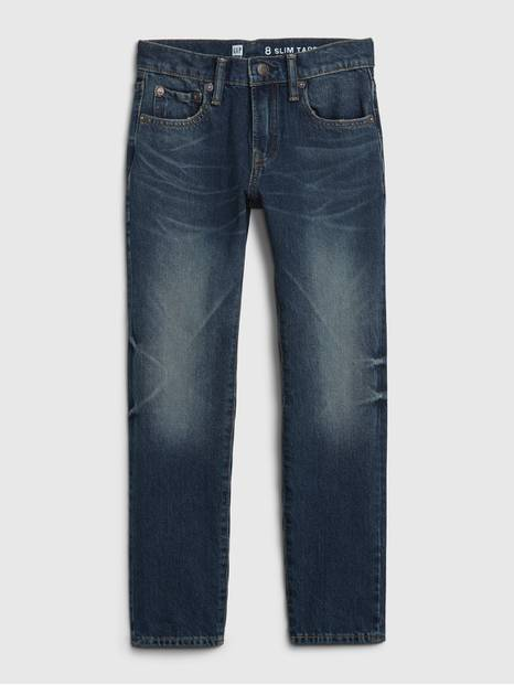 Kids Slim Taper Jeans with Stretch