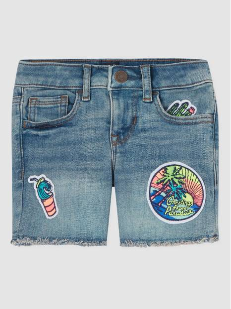Kids Vintage Patch Midi Denim Shorts