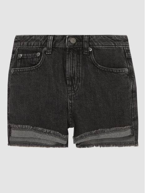 Teen Black Denim Shorts