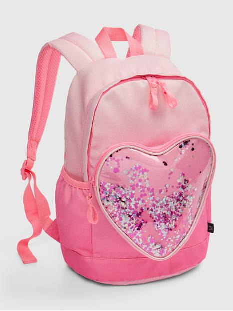 Kids Ombre Heart Confetti Junior Backpack