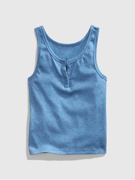 Teen Ribbed Henley Tank Top