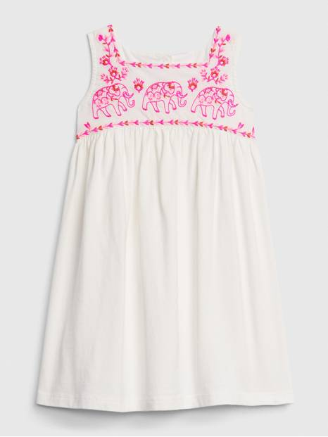 Toddler  Embroidered Tank Dress