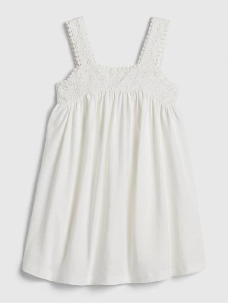 Toddler Eyelet Tank Dress