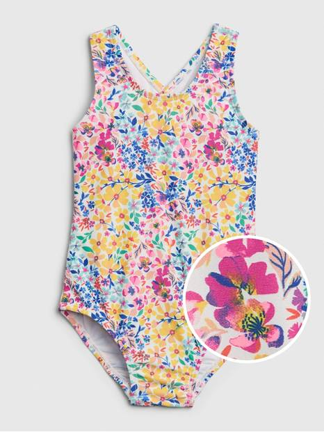 Toddler Floral Swim One-Piece