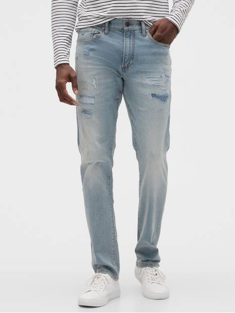 Destructed Slim Jeans