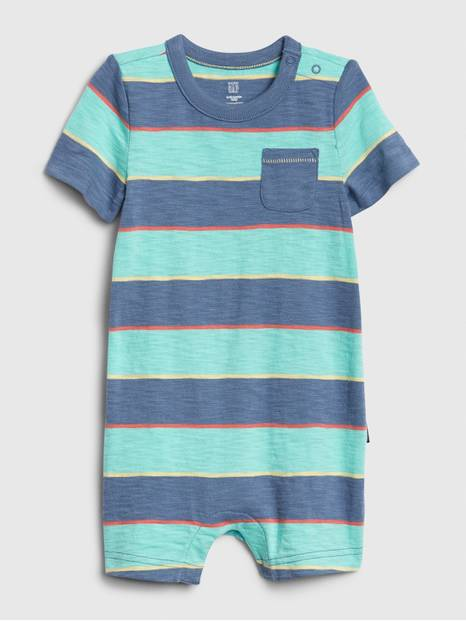 Baby Striped Chest Pocket Shorty