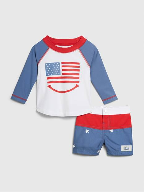 Baby Long Sleeve Swim Set