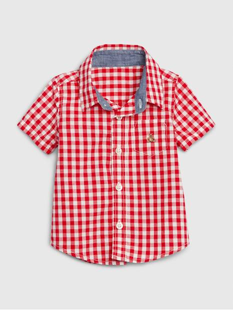 Baby Gingham Button Down Shirt