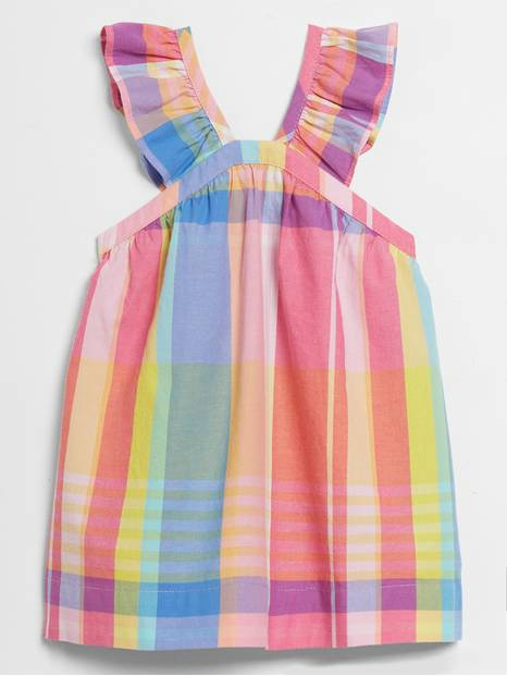 Baby Plaid Ruffle Dress