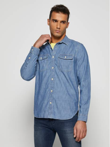 Workforce Collection Denim Chambray Shirt