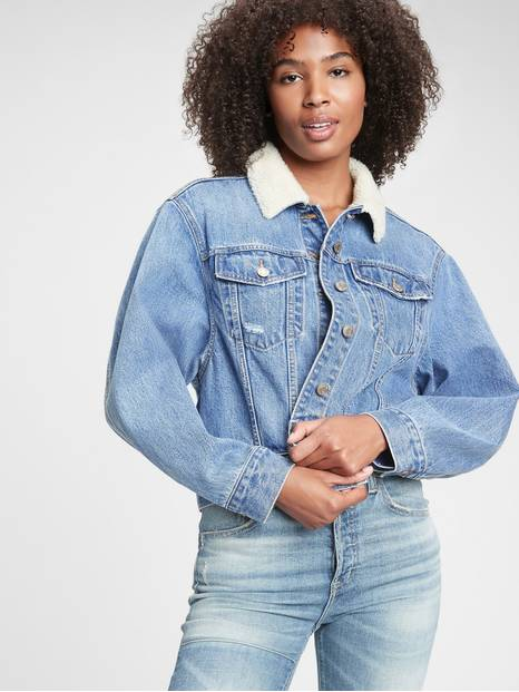 Dolman Denim Sherpa Icon Jacket