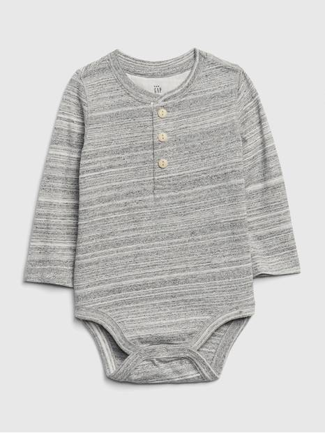 Baby Henley Long Sleeve Bodysuit