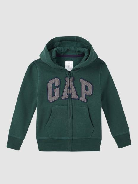 Baby Gap Logo Zip Hoodie In Fleece