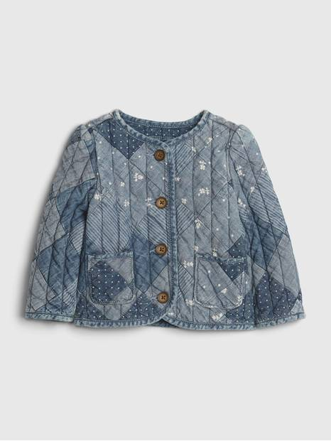 Baby Denim Patchwork Quilted Jacket