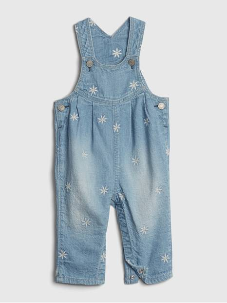 Baby Embroidered Denim Overalls