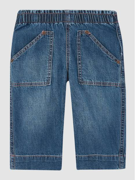 Toddler Pull-On Wide-Leg Jeans