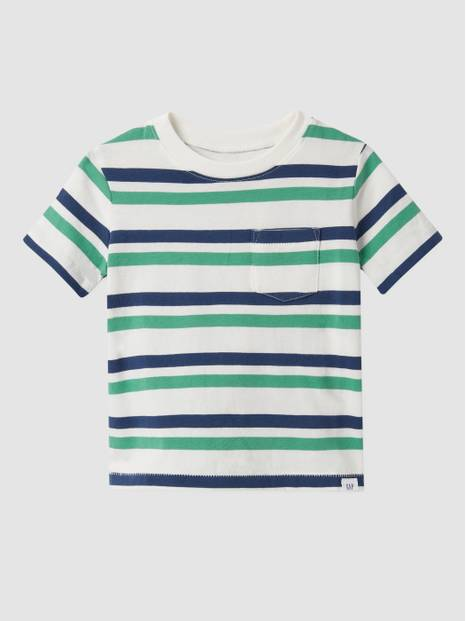 Toddler Stripe Pocket Crewneck T-Shirt