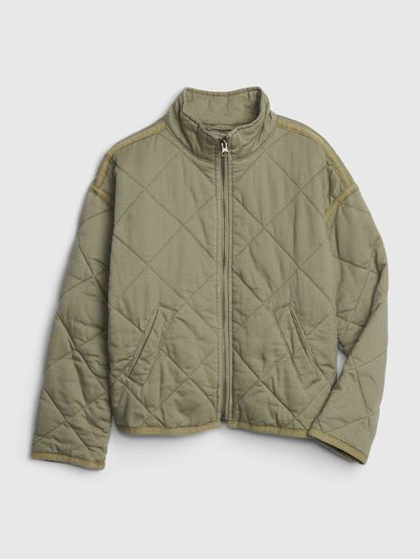 Kids Quilted Utility Jacket