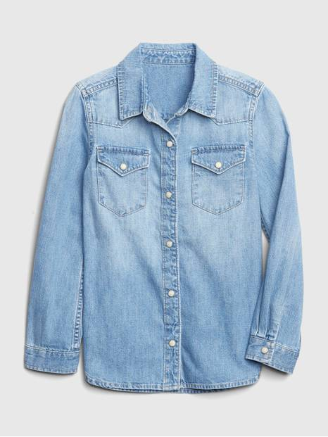 Kids Western Denim Shirt