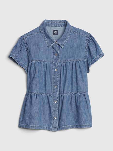 Kids Tiered Denim Shirt